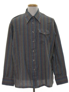 1990's Mens Mod Flannel Shirt