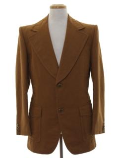 1970's Mens Mod Wool Blazer Sportcoat Jacket