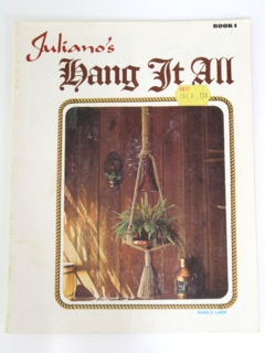 1970's Macrame Pattern Book