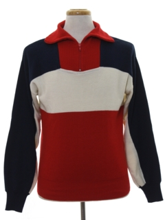 1970's Mens Mod Pullover Ski Sweater