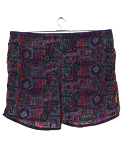 1990's Mens Wicked 90s Neon Swim Shorts