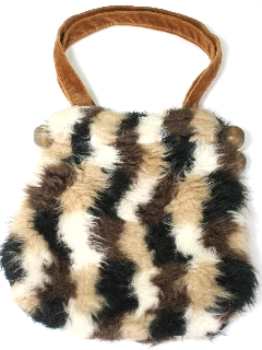 1950's Womens Accessories - Faux Fur Purse