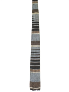 1960's Mens Mod Wool Square Bottom Necktie