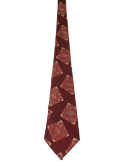 1940's Mens Wide Geometric Swing Necktie