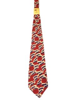 1940's Mens Wide Abstract Swing Necktie
