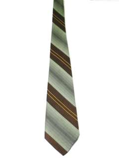 1970's Mens Wide Diagonal Striped Disco Necktie
