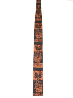 1960's Mens Mod Square Bottom Necktie