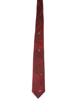 1980's Mens Totally 80s Skinny Rockabilly Necktie