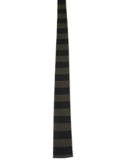 1950's Mens Square Bottom Horizontal Striped Necktie