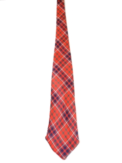 1950's Mens Plaid Necktie