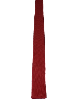 1980's Mens Knit Square Bottom Necktie