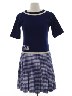 1950's Womens Mod Wool School Girl Dress