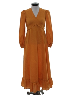 1960's Womens Hippie Cocktail Dress