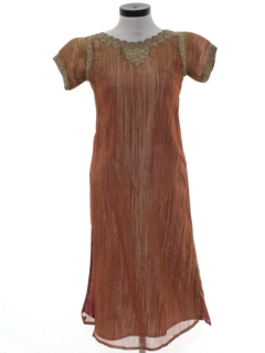 1990's Womens Ethnic Hippie Cocktail Dress