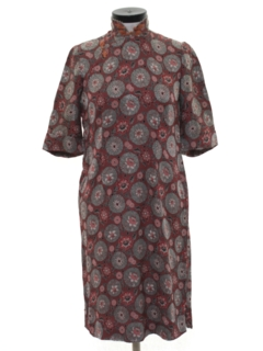 1940's Womens Cheongsam Cocktail Dress