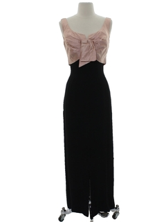 1950's Womens Maxi Wiggle Prom Or Cocktail Dress
