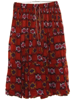 1990's Womens Broomstick Skirt