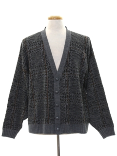 1980's Mens Cosby Style Totally 80s Cardigan Sweater