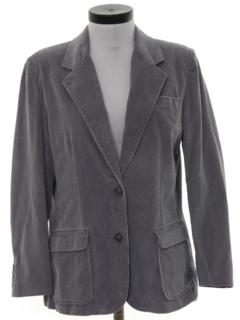 1980's Womens Corduroy Blazer Sport Coat Jacket