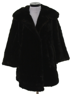 1950's Womens Faux Fur Coat Jacket