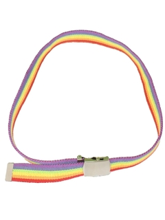 1980's Unisex Accessories - Totally 80s Style Rainbow Belt