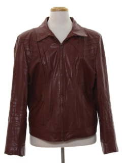 1980's Mens Fight Club Style Leather Jacket