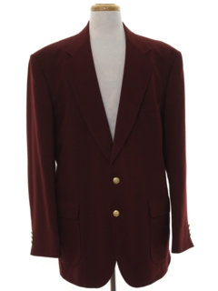1980's Mens Burgundy Blazer Sport Coat Jacket