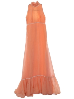 1970's Womens/Girls Maxi Prom Dress