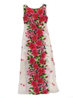 small Vintage Hawaiian Dress Women/'s