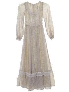1980's Womens/Girls Prairie Dress