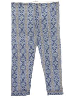 1960's Mens Mod Pajama Pants