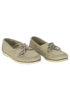 1980's Mens Accessories - Leather Boat Shoes