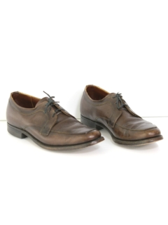 1960's Mens Accessories - Mod Leather Oxford Shoes