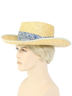 1980's Mens Accessories - Straw Hat