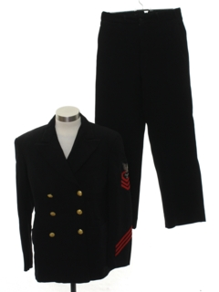 1960's Mens Navy Officers Military Uniform