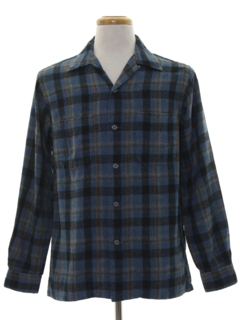 1960's Mens Flannel Board Shirt