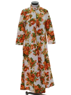1970's Womens Mod Lounge Maxi Dress