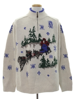 1990's Mens Snowflake Ski Sweater