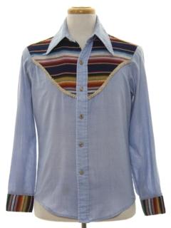 1970's Mens Western Style Hippie Shirt