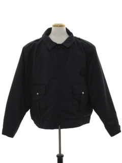 1980's Mens Police Style Work Zip Jacket