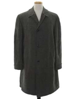 1950's Mens Mod Wool Car Coat Jacket