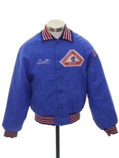 1980's Mens or Boys Baseball Jacket