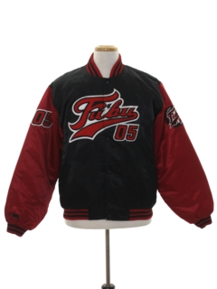 1990's Mens Satin Baseball Jacket