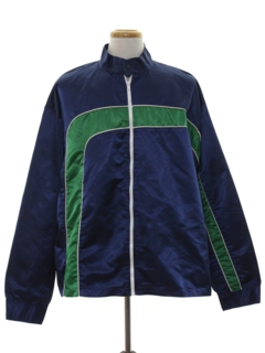 1980's Mens Racing Totally 80s Style Wind Breaker Zip Jacket