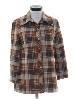 1970's Womens Plaid Leisure Jacket