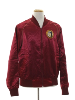 1980's Mens Satin Baseball Jacket