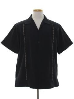 1990's Mens Guayabera Style Shirt