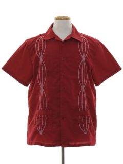 1990's Mens Club Style Guayabera Shirt