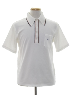 1970's Mens Mod Polo Style Knit Golf Shirt
