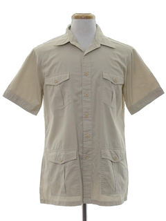 1980's Mens Mod Safari Sport Shirt